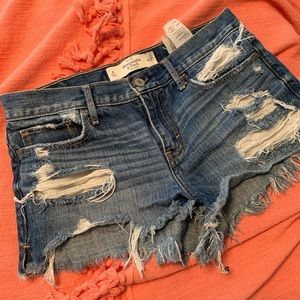 Distressed Abercrombie Jean Shorts